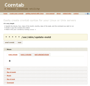 2016-01-27 18_31_28-A visual crontab editor - create your custom crontab syntax to use with the cron
